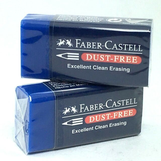 2PCS FABER-CASTELL Dust-Free erasers