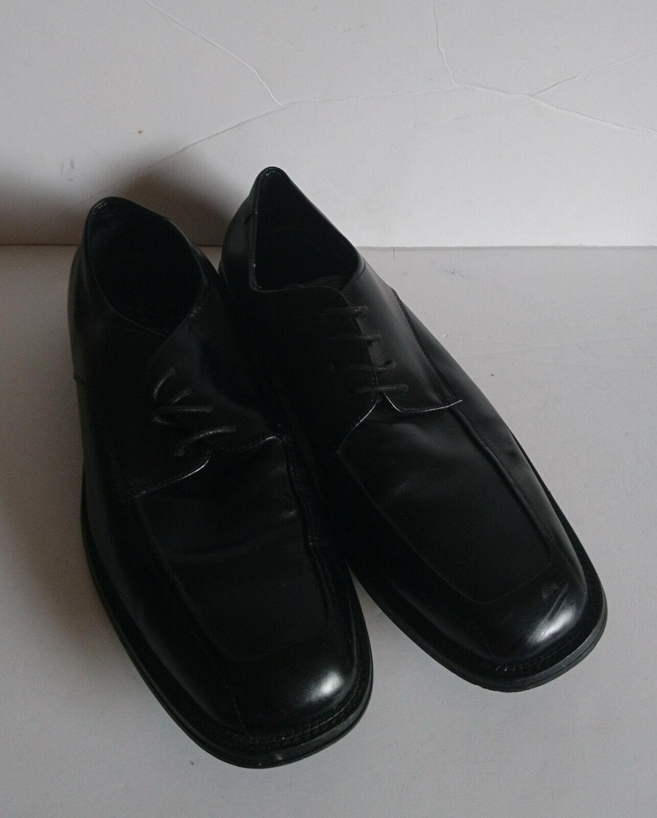 Bacco Bucci Studio Men's Oxford nero Lace Up Dress scarpe Dimensione 13