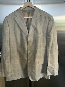 Austin Reed Mens 100 Linen Beige Blazer Size 46 R Ebay