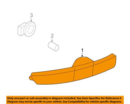 Lincoln FORD OEM 07-10 MKX-Side Marker Lamp Left 7A1Z15A201C