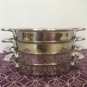 All Clad 7 Quot Mini Oval Au Gratin Set Of 4 Stainless Steel