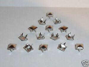 100 hohlnieten rivets décoratifs rivets 8x3x8 Argent Inoxydable
