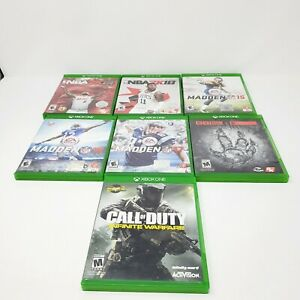 Xbox-One-Lot-Of-7-Games-Microsoft-Genuine-Authentic