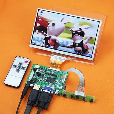 "DIY 7"" TFT LCD Display+HDMI/VGA/2AV Controller Video Board Card for Raspberry Pi"