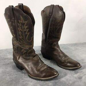 ARIAT-Women-s-Heritage-Brown-Round-Toe-Leather-Western-Cowboy-Boots-Size-8-5C