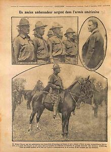 US-Ambassador-Sergent-Robert-Bacon-Soldiers-US-Army-USA-1916-WWI
