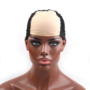 Tools & Accessories Humorous 1 Pcs Double Lace Wig Caps For Making Wigs And Hair Weaving Stretch Adjustable Wig Cap Hot Black Dome Cap For Wig Hair Net With The Best Service Hairnets