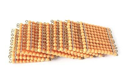 NEW Montessori Mathematics Material - 9 Golden Bead Hundred Squares (NEW)