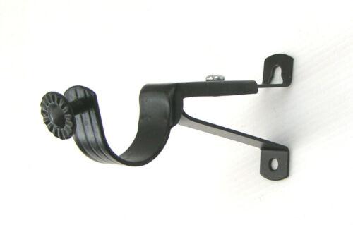 19mm 28mm 35mm Black Curtain Pole Rod Brackets Finials Bay Elbow Joints
