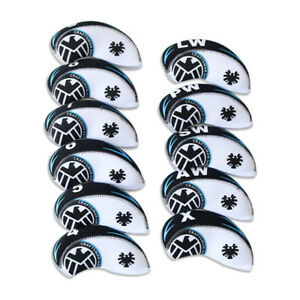 Golf-Head-Covers-Iron-Set-11-Piece-4-5-6-7-8-9-Lw-Pw-Sw-Aw-Irons-Club-Headcovers