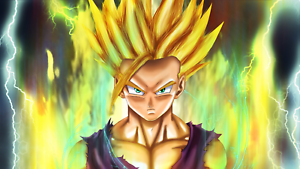 Poster 42x24 cm Dragon Ball Z Gohan Super Saiyan Manga Anime Cartel 04