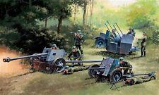 Italeri Model Kit - German Gun Set - 3 Guns & Crew - 7026