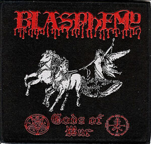 Blasphemy-Gods-patch-Black-Metal-Bathory-Sarcofago-Conqueror-Order-From-Chaos