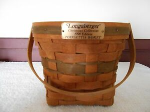 VINTAGE-LONGABERGER-CHRISTMAS-COLLECTION-1988-EDITION-POINSETTIA-BASKET
