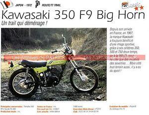 Kawasaki 350 F9 Big Horn 1972 Fiche Moto 000199 Dbxeyj9c-07225003-654079628