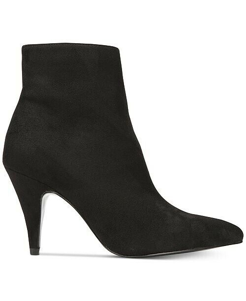 Carlos Santana Mandarin 2 Faux Black Suede Pointed Ankle Boots - Size 10