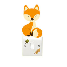 Woodland Fox Leaf & Acorn Light Switch Wall Stickers Children's Bedroom Fun