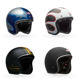 Bell-Custom-500-Carbon-3-4-Open-Face-Motorcycle-Helmet-Choose-Size-amp-Color