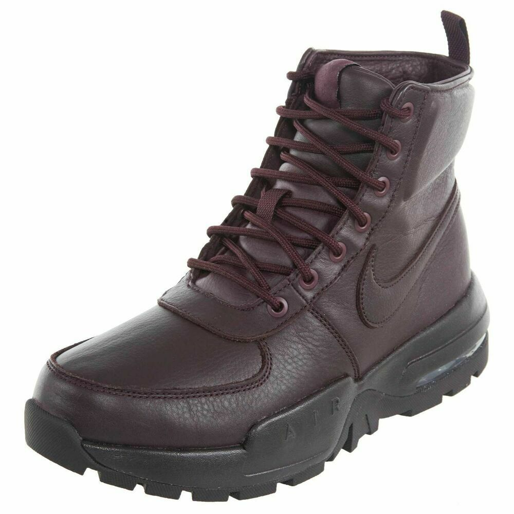 NIKE AIR MAX GOATERRA 2.0 BOOTS MENS 9.5 NEW 916816-601 BURGUNDY LEATHER