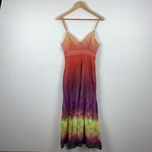 Portmans-Womens-Maxi-Dress-Size-10-Multicoloured-Sleeveless-Good-Condition