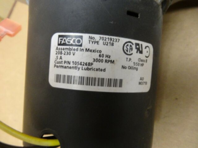 Fasco Furnace Venter Exhaust Inducer Motor A148 70219237 7021-9237