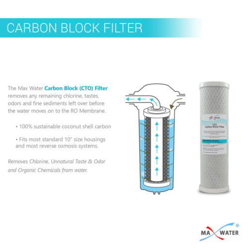 10 Pack RO Replacement Filters 1 Micron Sediment & 1 Micron CTO Carbon Block