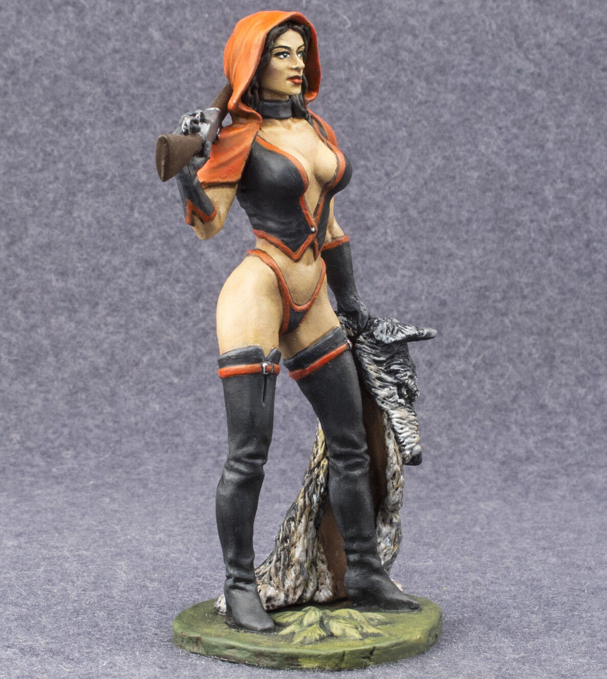 Painted Toy Soldiers 75mm Red Riding Hood 1 24 Woman Figure Hunter Sexy Girl