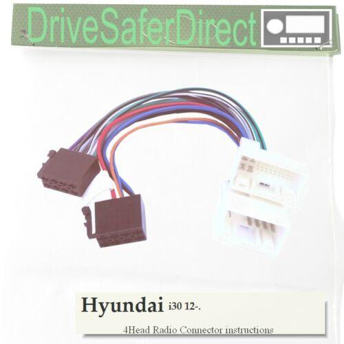 4024-91 Adaptador de radio para la unidad principal del mercado de accesorios//Hyundai i30 2012-16 4-Head
