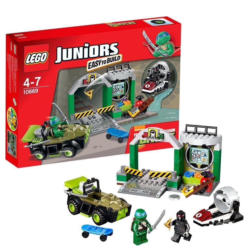 LEGO Juniors TMNT 10669 Tartaruga TANA Nuovo di Zecca GRATIS UK P & P