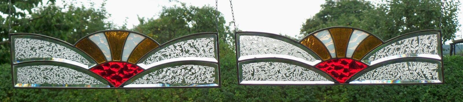 Stained Glass Leaded 2 St.Window Image Screening brisevue Original Art Deco
