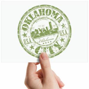 Oklahoma-City-USA-Green-Sign-Small-Photograph-6-034-x-4-034-Art-Print-Photo-Gift-5833