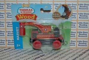 Thomas-amp-Friends-Wood-Wooden-HARVEY-Train-FULLY-PAINTED-Fisher-Price-GGG32
