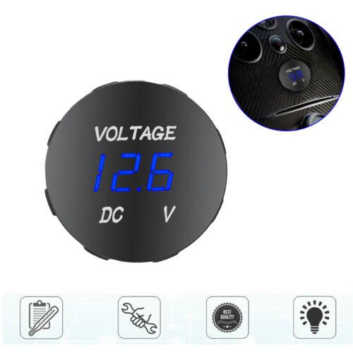 12V-24V Car Marine Boat Blue LED Digital Voltmeter Voltage Meter Battery Gauge