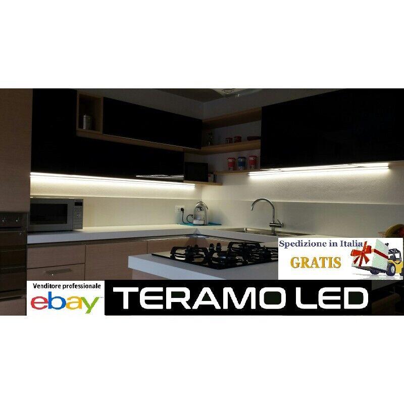 KIT BARRA LED alluminio Touch SU MISURA GIA' MONTATA alta luminosità 50 50