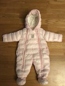KANZ-Baby-Schneeoverall-Schneeanzug-rosa-Winterkleidung-Gr-62-3-Monate-pink