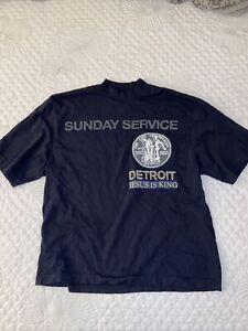 Kanye-West-Men-039-s-US-M-Sunday-Service-Detroit-T-Shirt-Navy