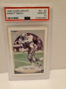1990-Fleer-Update-Emmitt-Smith-ROOKIE-RC-U-40-PSA-10-GEM-MINT