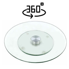 Tempered Glass Lazy Susan Turnable Rotating Serving Plate Cheese Cake Tray