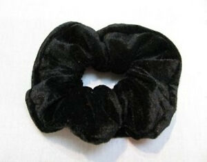 black velvet hair scrunchie band loop tie donut large bobble