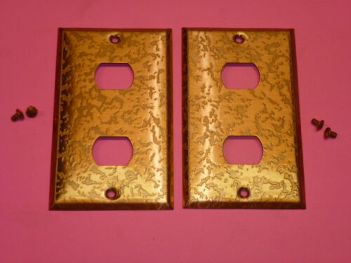 2-HOLE 2 NOS! BELL INTERCHANGE 1-GANG ANTIQUE COPPER FINISH WALL PLATE