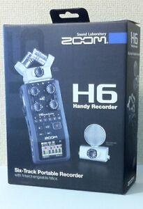 NEW-ZOOM-H6-Handy-Recorder-Interchangeable-Microphone-Linear-PCM