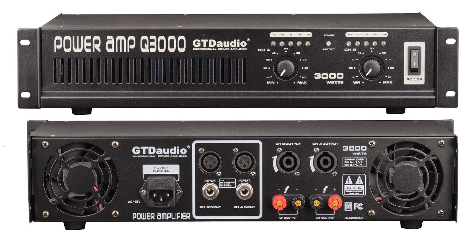 Gtd Audio Q3000 3000w Power Amplifier Ebay Two Way 20 Watts