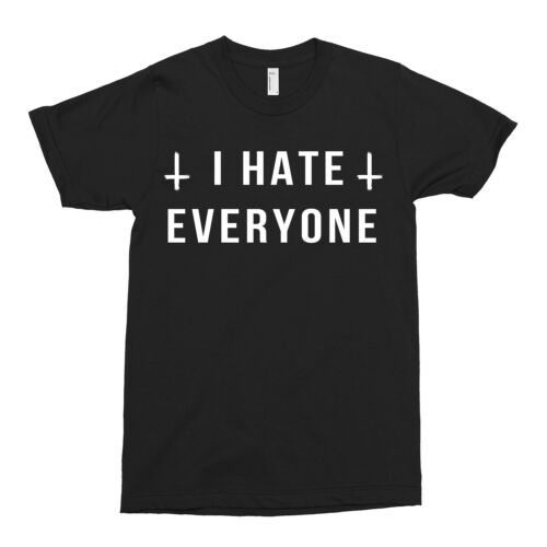 I Hate Everyone T-shirt Alternative Rebels Fashion DTG Unisex Moth Tattoo Rebels