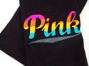 Victoria-039-s-Secret-PINK-Women-039-s-Small-Black-Ultimate-Leggings-Yoga-Pants-Logo-Nwt