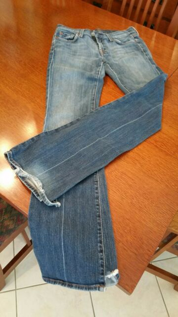 Authentic 7 for all mankind Jeans RN# 65199 CA# 34450 Cut #706616 ~ size 27