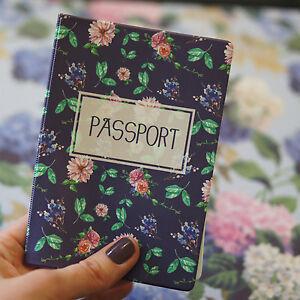 Passport Holder GARDEN, vinyl cover Document ID Travel case protector skin