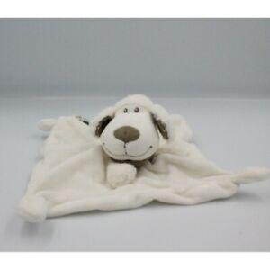 Doudou plat mouton blanc bandanas gris TEX BABY - Mouton Plat, Semi plat