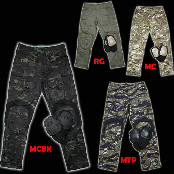 Mens G3 Military Hunting Combat Tactical Pants Camp Trousers + Knee Pads TMC2901