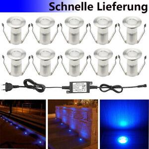 Détails Sur 0 4w 12v Bleu Led Lampe Lumière éclairage Spot Exterieur Maison Jardin Kit Decor