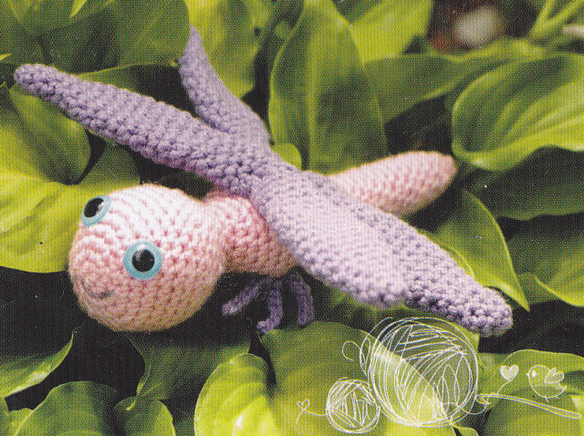 Crochet Pattern ~ DRAGONFLY Stuffed Animal Toy ~ Instructions